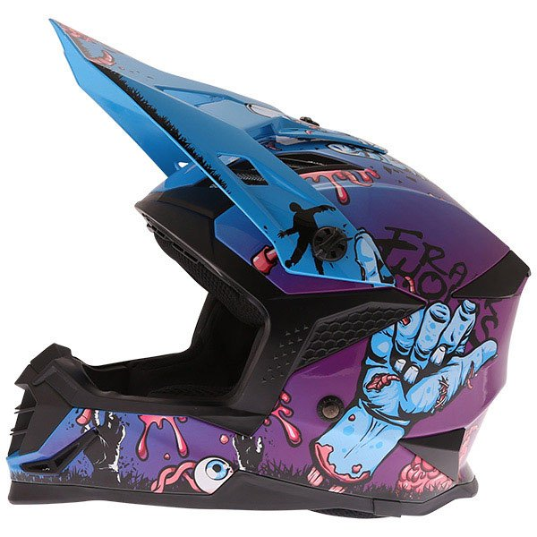 SC16 MX Zombie Helmet Blue Motorcycle Helmets