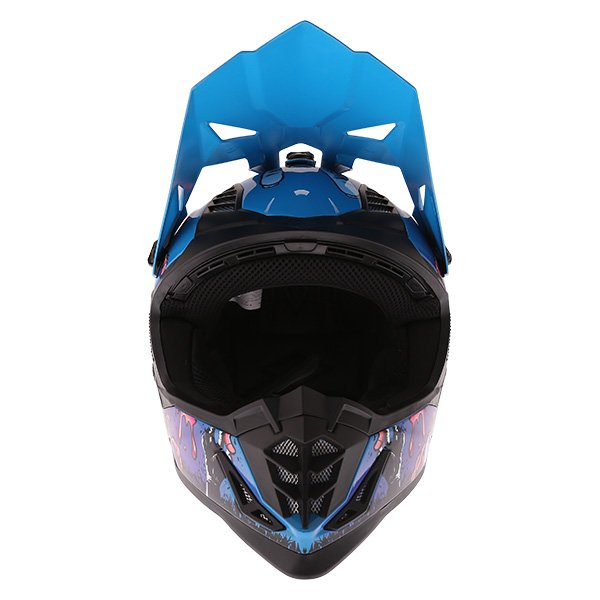 Frank Thomas SC16 Zombie Blue Motocross Helmet Front