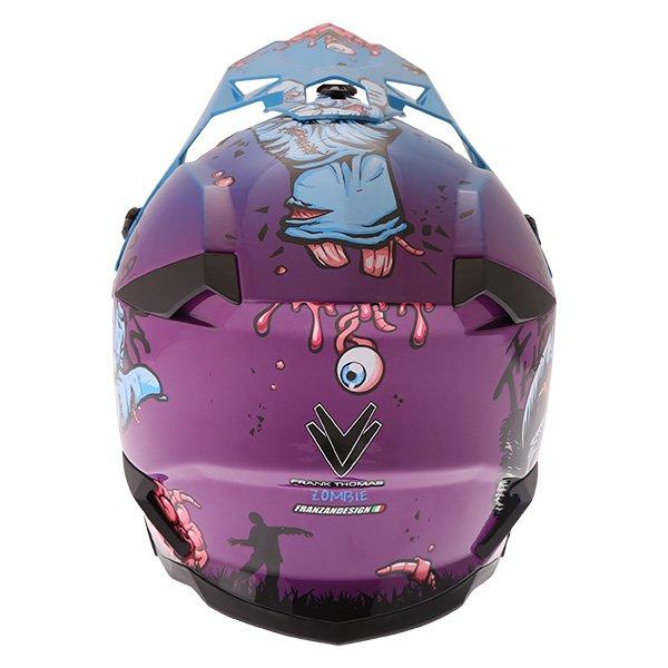 Frank Thomas SC16 Zombie Blue Motocross Helmet Back