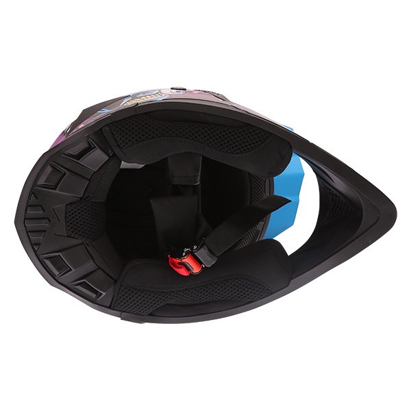Frank Thomas SC16 Zombie Blue Motocross Helmet Inside