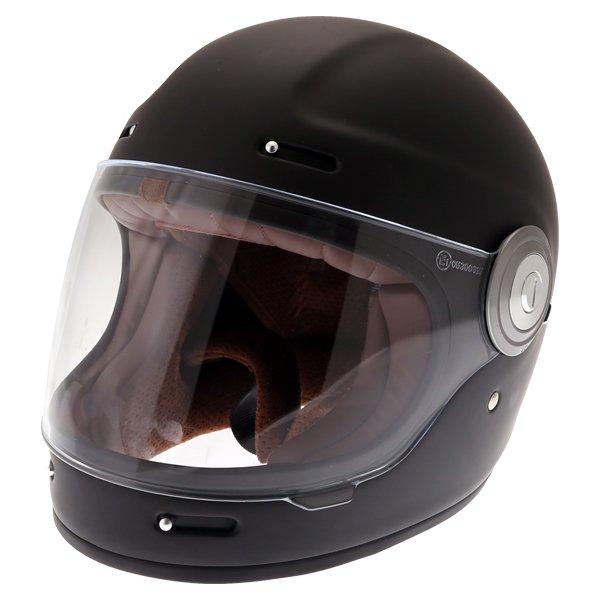 Force Bomber Matt Black Full Face Motorcycle Helmet Front Left