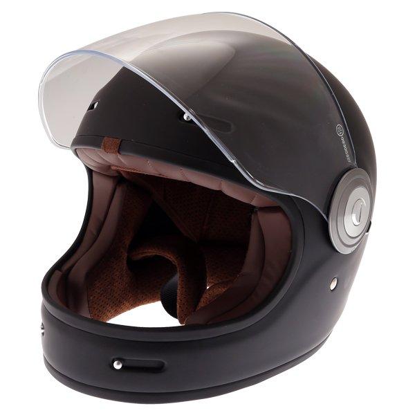 Force Bomber Matt Black Full Face Motorcycle Helmet Open Visor