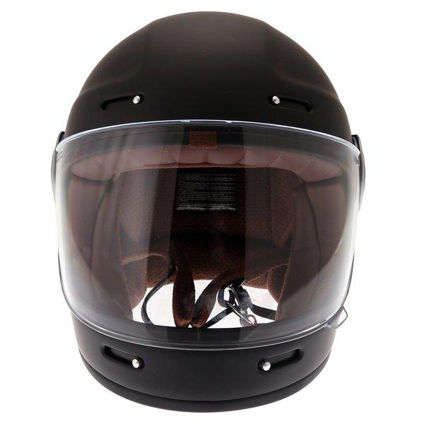 Force Bomber Matt Black Full Face Motorcycle Helmet Front