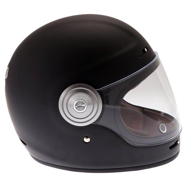 Force Bomber Matt Black Full Face Motorcycle Helmet Right Side