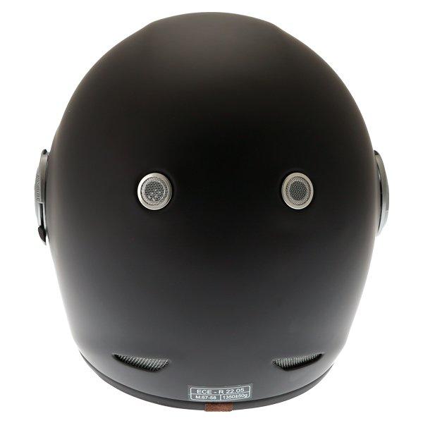 Force Bomber Matt Black Full Face Motorcycle Helmet Back