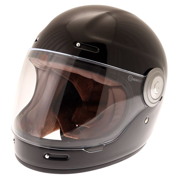 Force Bomber Black Full Face Motorcycle Helmet Front Left