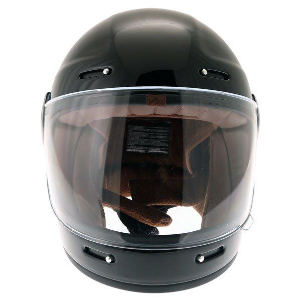 Force Bomber Black Full Face Motorcycle Helmet Front