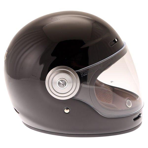 Force Bomber Black Full Face Motorcycle Helmet Right Side