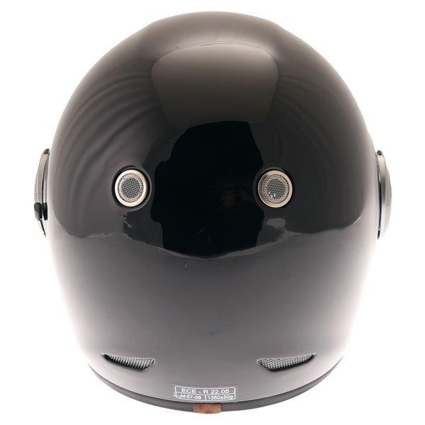 Force Bomber Black Full Face Motorcycle Helmet Back