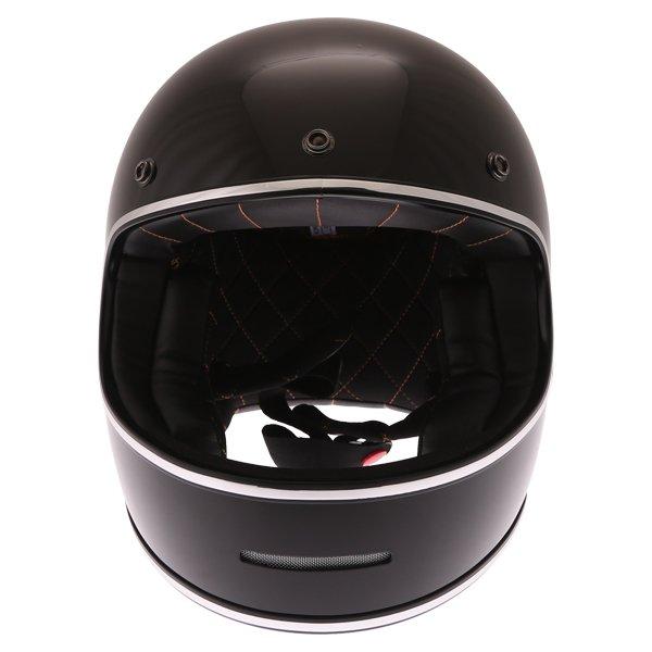 Force Blitzfibre Black Full Face Motorcycle Helmet Front