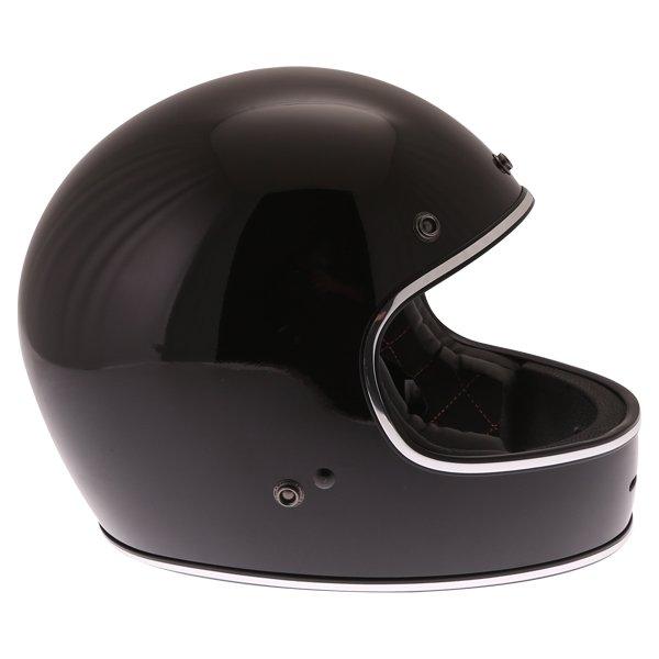 Force Blitzfibre Black Full Face Motorcycle Helmet Right Side