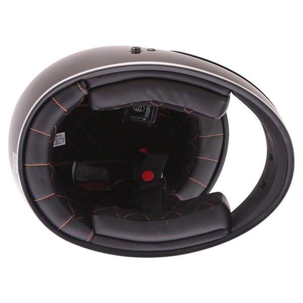 Force Blitzfibre Black Full Face Motorcycle Helmet Inside
