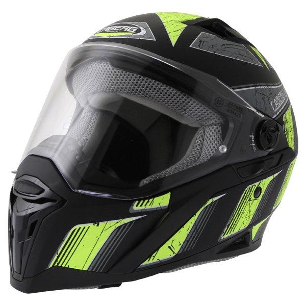 Caberg Stunt Steez Black Yellow Full Face Motorcycle Helmet Front Left
