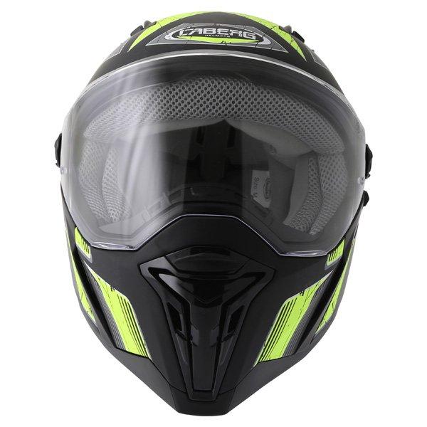 Caberg Stunt Steez Black Yellow Full Face Motorcycle Helmet Front