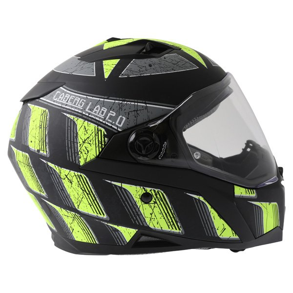 Caberg Stunt Steez Black Yellow Full Face Motorcycle Helmet Right Side
