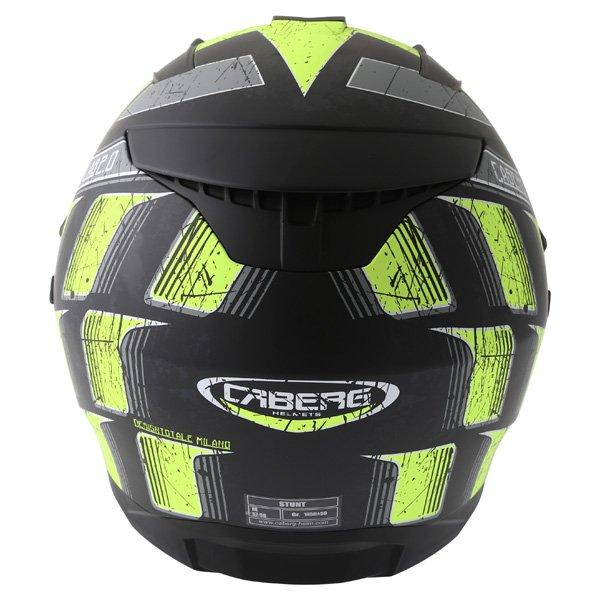 Caberg Stunt Steez Black Yellow Full Face Motorcycle Helmet Back