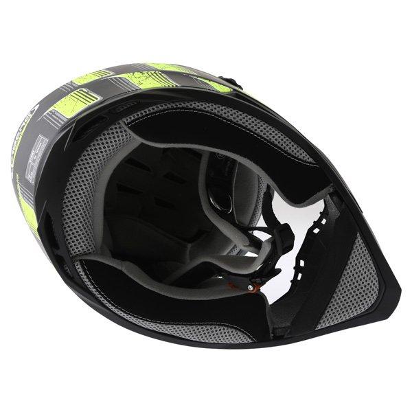 Caberg Stunt Steez Black Yellow Full Face Motorcycle Helmet Inside