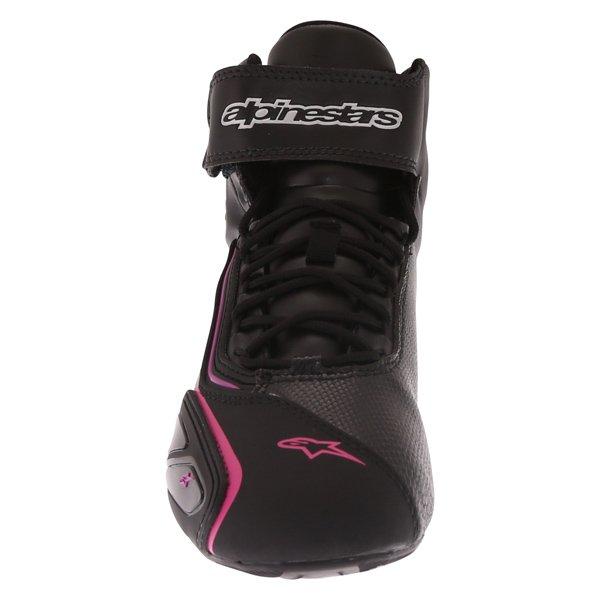 Alpinestars Stella Faster 2 Ladies Waterproof Black Fuchsia Motorcycle Shoes Front