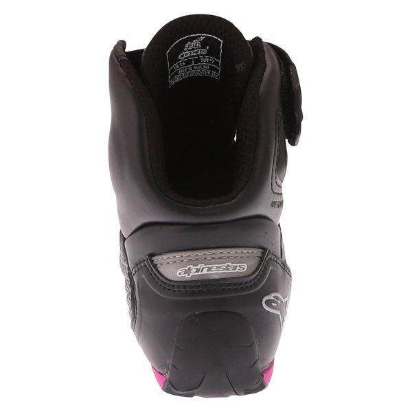 Alpinestars Stella Faster 2 Ladies Waterproof Black Fuchsia Motorcycle Shoes Heel