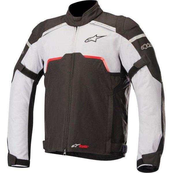 Alpinestars Hyper Drystar Black Grey Textile Motorcycle Jacket Front