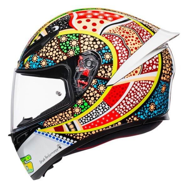 AGV K1 Dreamtime Full Face Motorcycle Helmet Left Side