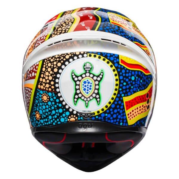 AGV K1 Dreamtime Full Face Motorcycle Helmet Back