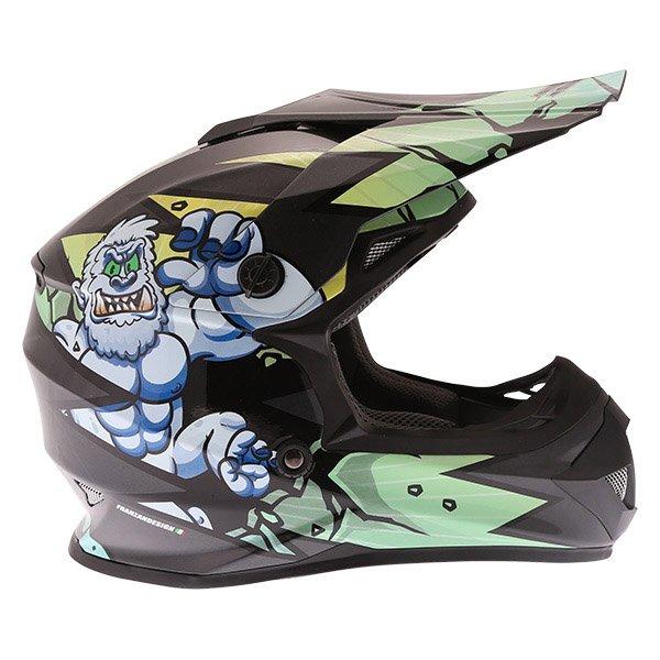 Frank Thomas FT15Y Kids Gorilla MX Helmet Right Side