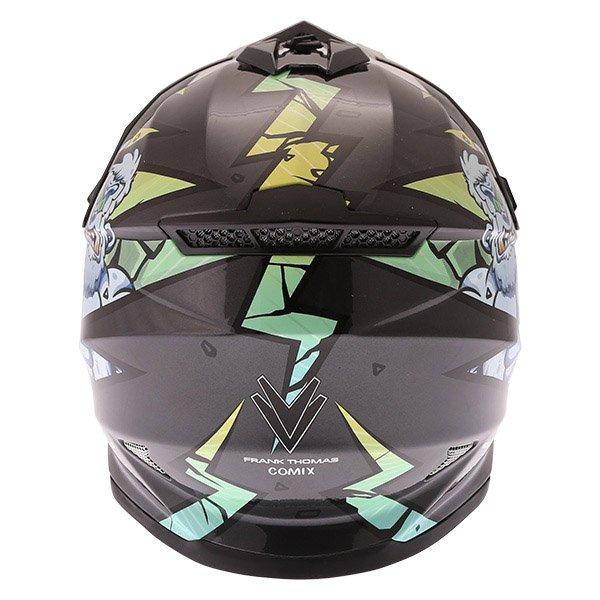 Frank Thomas FT15Y Kids Gorilla MX Helmet Back