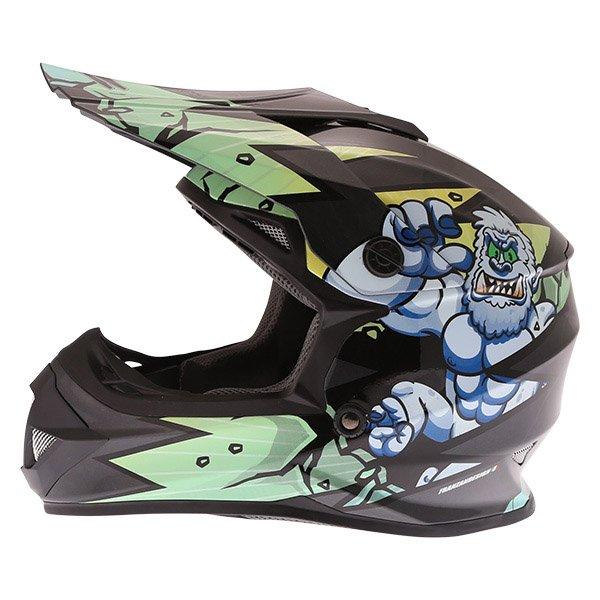 Frank Thomas FT15Y Kids Gorilla MX Helmet Left Side