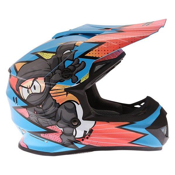 Frank Thomas FT15Y Kids Ninja MX Helmet Right Side