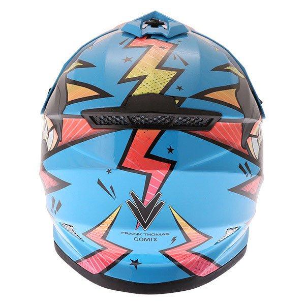 Frank Thomas FT15Y Kids Ninja MX Helmet Back