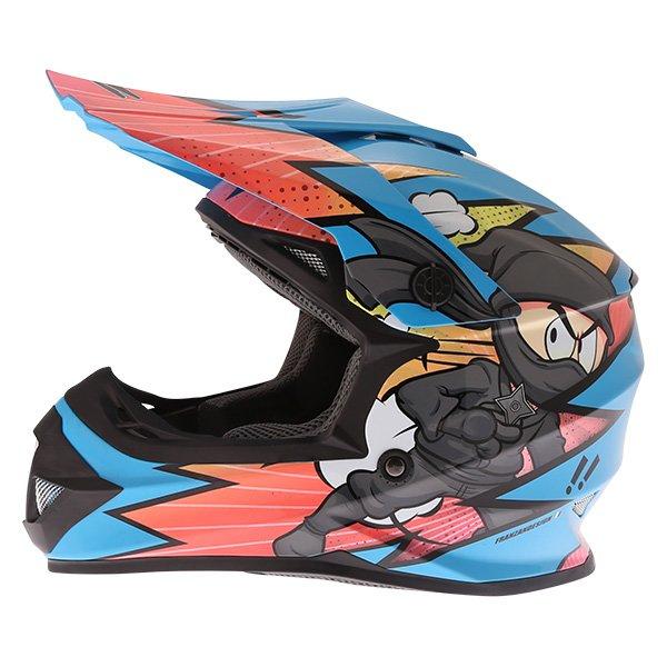Frank Thomas FT15Y Kids Ninja MX Helmet Left Side