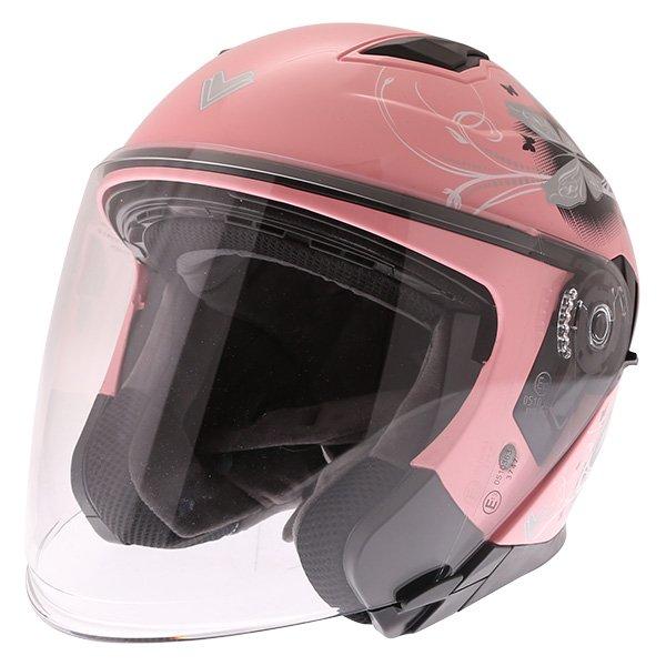 FTDV31 Open Face Helmet Pink Ladies Helmets