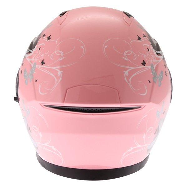 Frank Thomas FTDV31 Ladies Pink Open Face Motorcycle Helmet Back