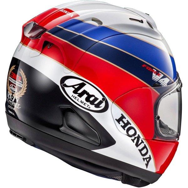 Arai RX-7V Honda RC30 Full Face Motorcycle Helmet Back Right