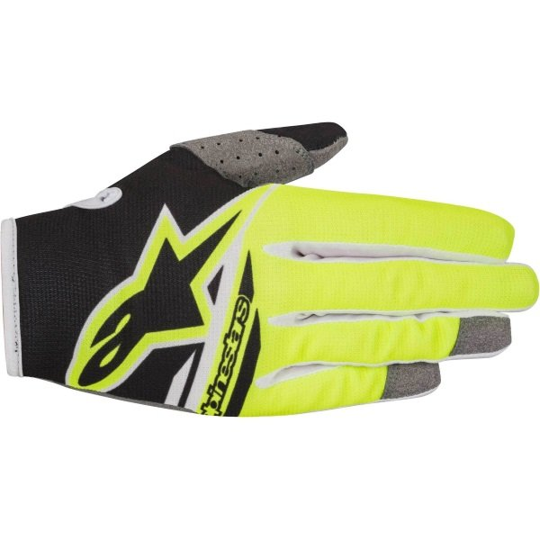 Alpinestars Radar Flight Black Fluo Yellow Motocross Gloves Back