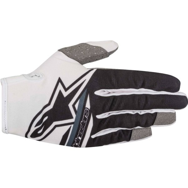 Alpinestars Radar Flight White Black MX Gloves Back