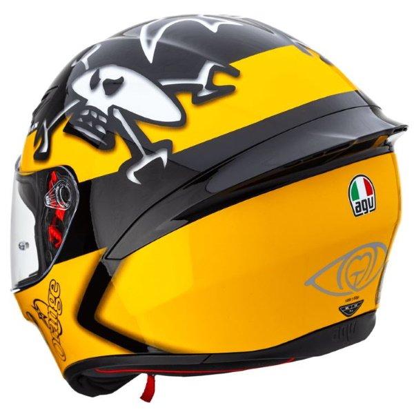 AGV K1 Guy Martin Full Face Motorcycle Helmet Back Left