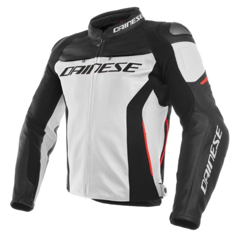 Dainese Racing 3 Jacket White Black Red White Black Red