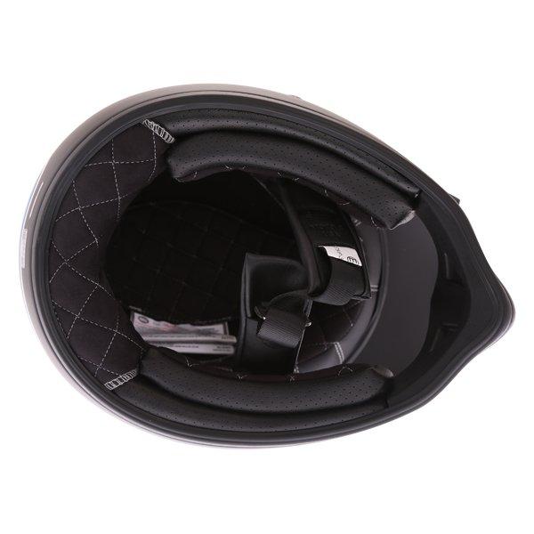 Bell Moto-3 Stripes Silver Black Blue Adventure Motorcycle Helmet Inside