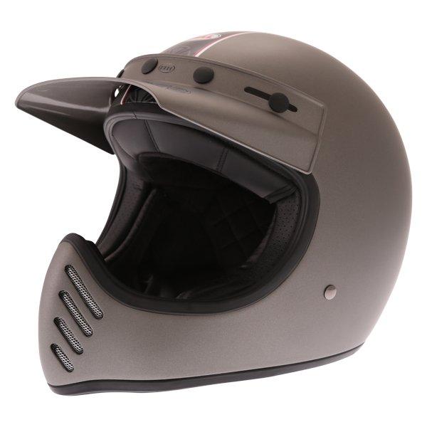 Moto-3 Independent Helmet Matte Titanium Adventure & Touring Motorcycle Helmets