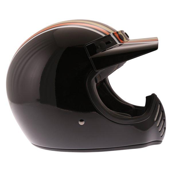 Bell Moto-3 Stripes Black Orange Adventure Motorcycle Helmet Right Side