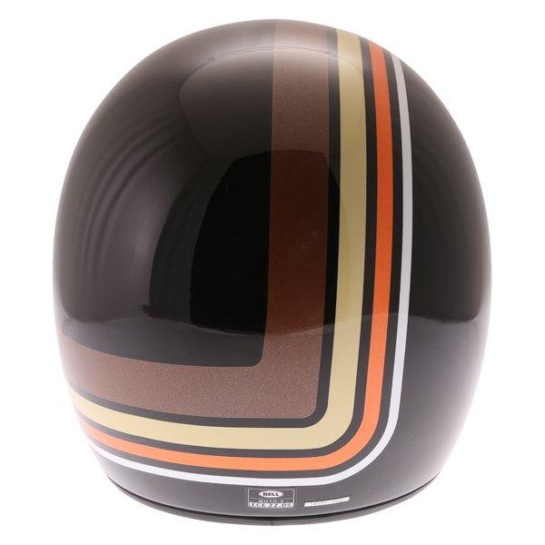 Bell Moto-3 Stripes Black Orange Adventure Motorcycle Helmet Back