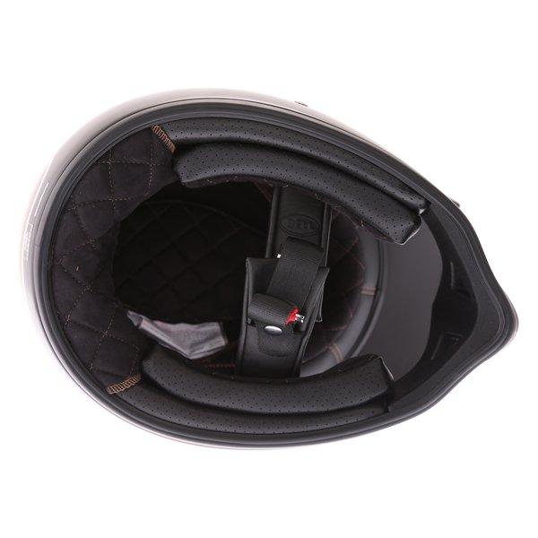 Bell Moto-3 Stripes Black Orange Adventure Motorcycle Helmet Inside
