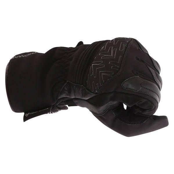 Frank Thomas FT-54 Black Waterproof Motorcycle Glove Knuckle
