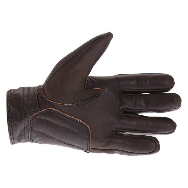 BKS Jack 0615 Dark Brown Motorcycle Gloves Palm
