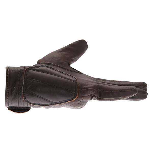 BKS Jack 0615 Dark Brown Motorcycle Gloves Little Finger Side