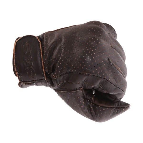 BKS Jack 0615 Dark Brown Motorcycle Gloves Knuckle