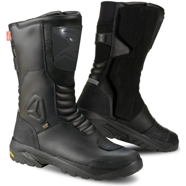 Falco Tourance Black Motorcycle Boots Pair