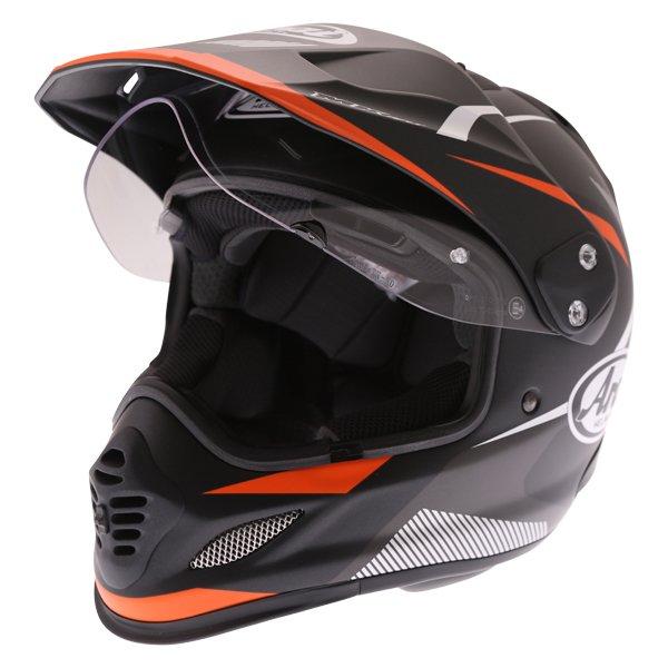 Arai Tour-X 4 Break Orange Adventure Motorcycle Helmet Open Visor